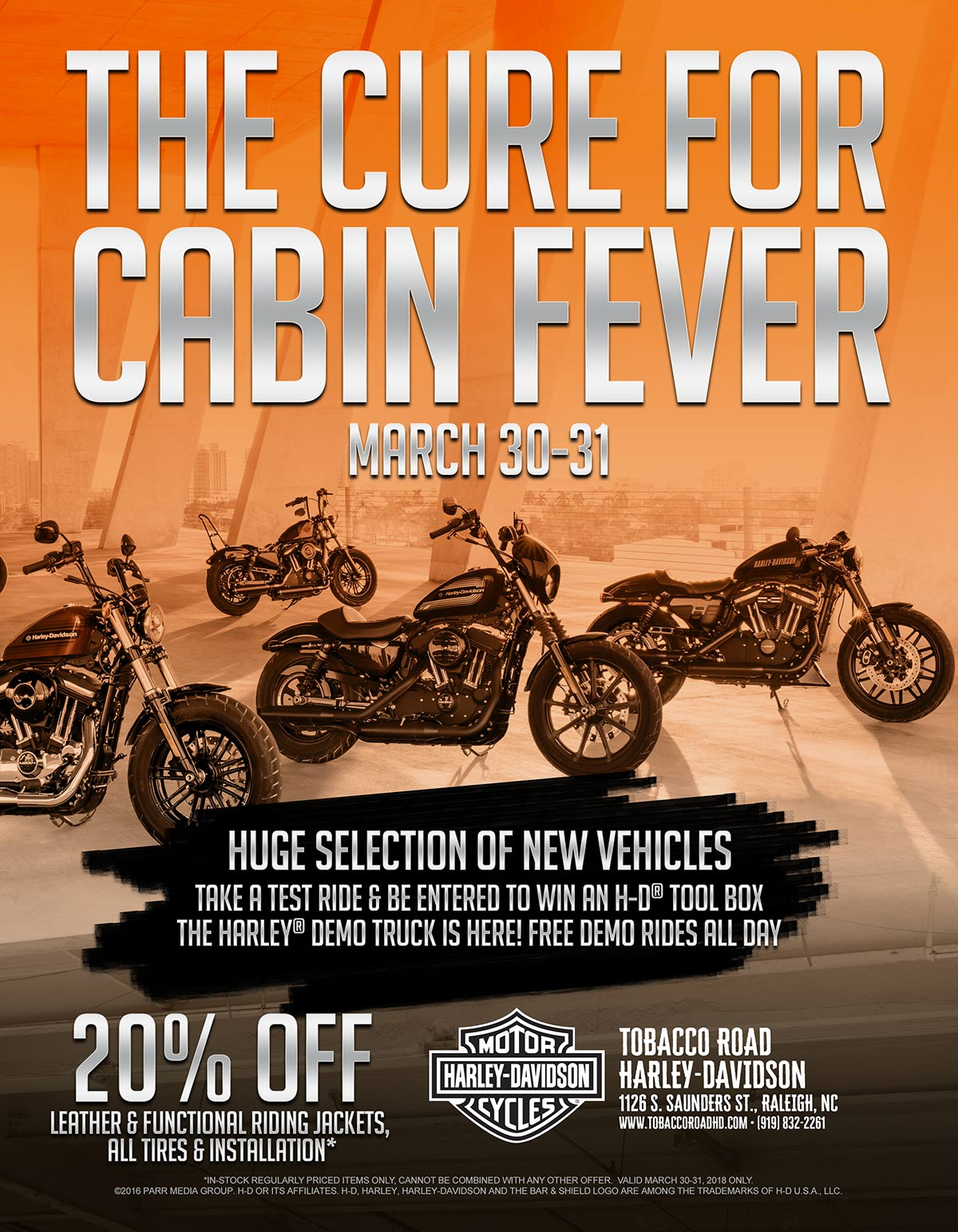 The Cure For Cabin Fever Event Tobacco Road Harley Davidson Events