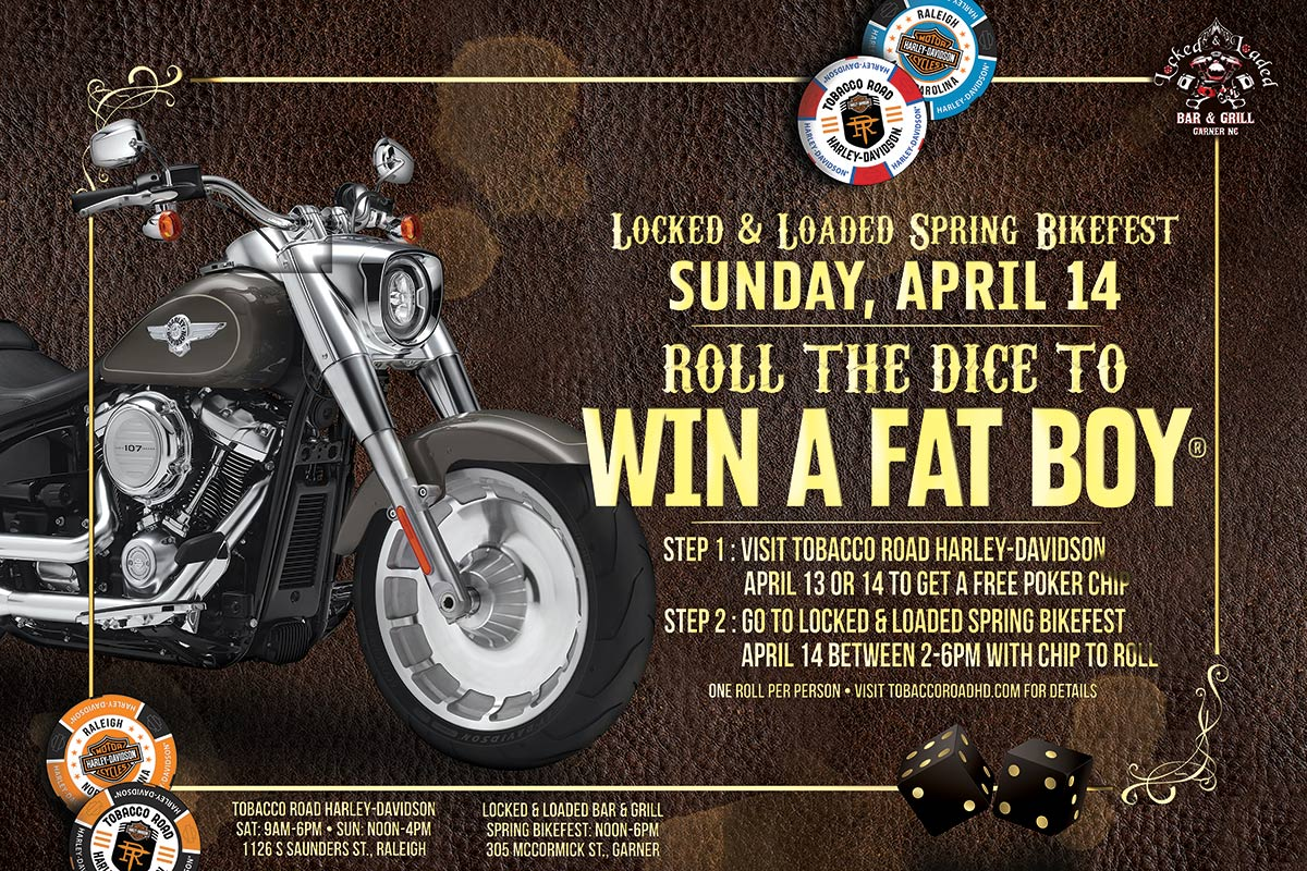 Roll the Dice to Win a Fat Boy