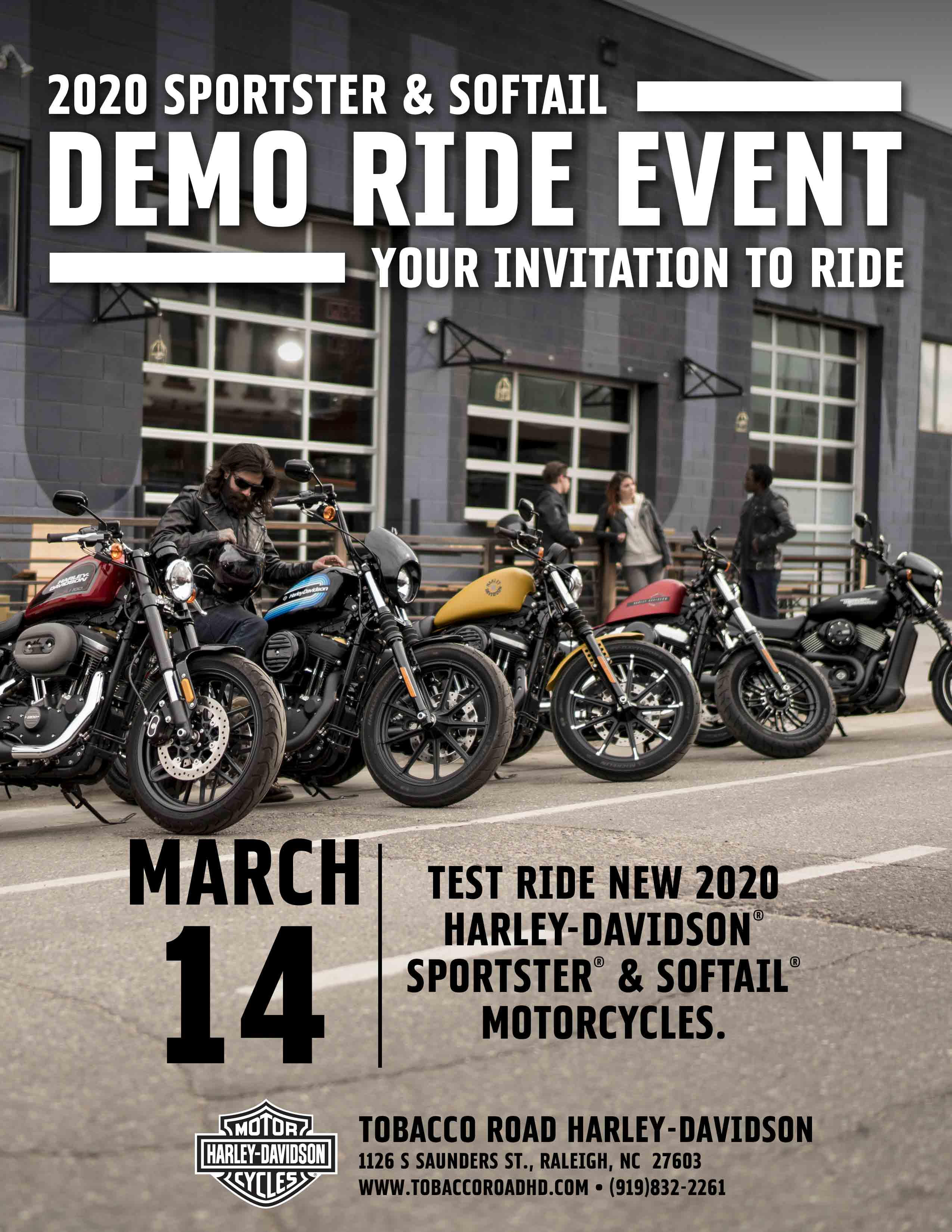 Harley-Davidson Motorcycle Sportster and Softail Demo