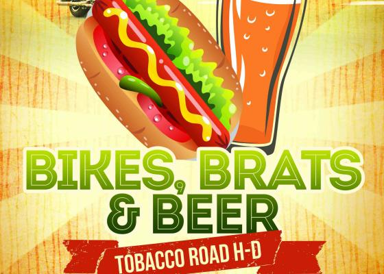 Bikes Beer and Brats Hot Dogs