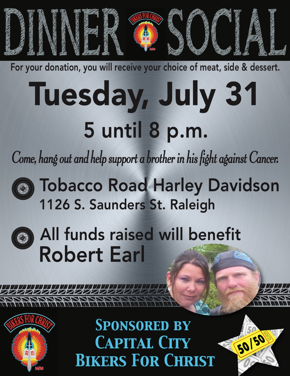 Capital City Bikers for Christ Dinner Social | Tobacco Road