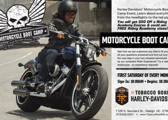 HD101 New Rider Boot Camp at Tobacco Road Harley-Davidson